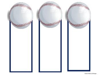 Baseball Name Plates