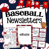 Baseball Newsletter Templates ~ Editable