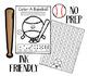 Baseball No-Prep Open Ended FREEBIE
