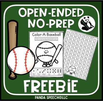Baseball No Prep Open-Ended Freebie