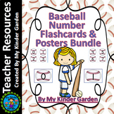 Baseball Number Flash Cards and Posters Math Numbers 0-100 Bundle