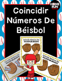 Baseball Number Matching in Spanish; Coincidir Números