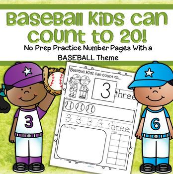 Baseball Number Practice 1-20