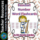 Baseball Number Word Flash Cards Math Numbers Zero To One Hundred