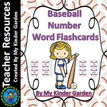 Baseball Number Word Flashcards Zero To One Hundred