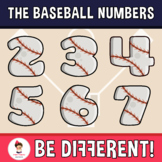 Baseball Numbers Clipart