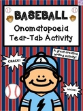 Baseball Onomatopoeia Tear-Tab Creative Writing Activity