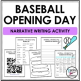 Baseball Opening Day Narrative Writing