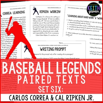 Baseball Paired Texts: Carlos Correa and Cal Ripken Jr.: Nonfiction Passages