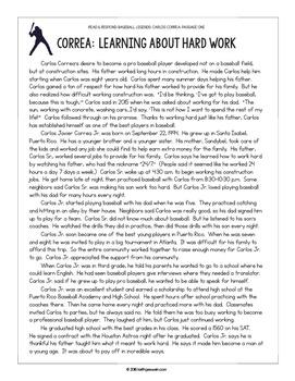Baseball Paired Texts: Carlos Correa and Cal Ripken Jr.: Nonfiction Passages