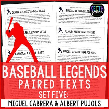 Baseball Paired Texts: Miguel Cabrera and Albert Pujols: Nonfiction Passages