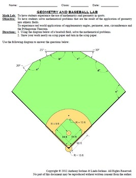 Baseball, Pennant, Bat, Glove, Word Problems, Coordinate Drawing & Graphing