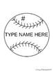 Baseball & Pennant Templates