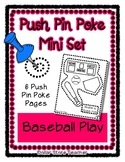 Baseball Play - Push Pin Poke No Prep Printables - 6 Pictu