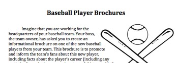 Baseball Player Brochure (Research Project)