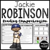 Baseball Player Jackie Robinson Biography Reading Comprehension Black History
