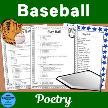 Baseball Poetry