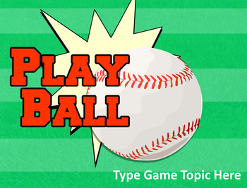 Baseball powerpoint template create your own review game tpt baseball powerpoint template create your own review game toneelgroepblik Image collections