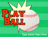 Baseball PowerPoint Template - Create Your Own Review Game