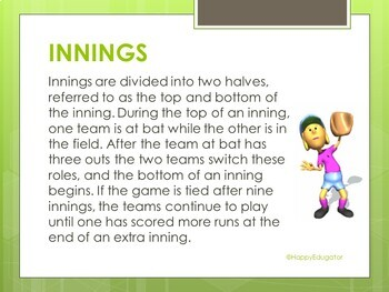 Baseball PowerPoint - The Rules of the Game