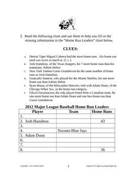 Baseball Problem Solving