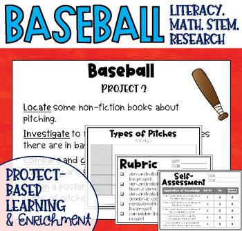 Baseball Project Based Worksheets Teachers Pay Teachers
