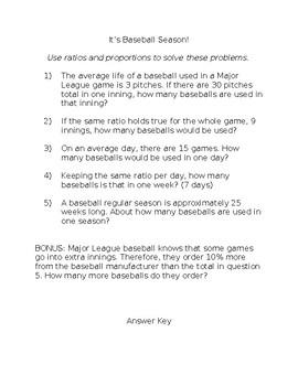 Baseball Proportions