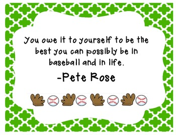 Baseball Quotes with Borders