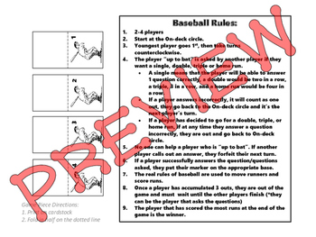 Baseball Review Game
