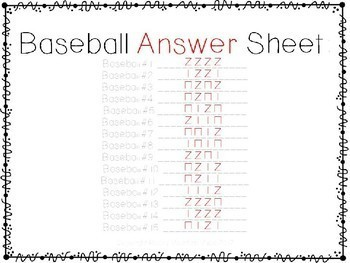 Baseball Rhythm Scavenger Hunt