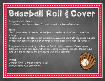 Baseball Roll and Cover