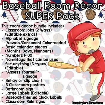 Baseball Room Decor SUPER Pack