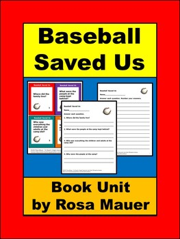 Baseball Saved Us Book Unit