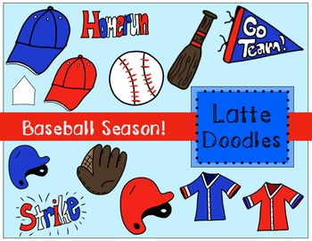 Baseball Season Clip Art {Commercial Use Included}