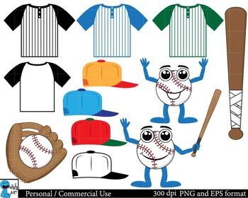 Baseball Set Clipart Digital Clip Art Graphics 26 images cod61
