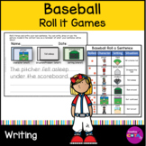 """Baseball Roll and Write a sentence or story and Roll and Draw """"Bat Man"""""""