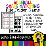 Folder Game: Baseball Shape Matching for Students with Autism