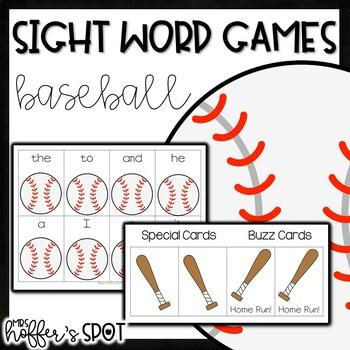 Baseball Sight Word Games