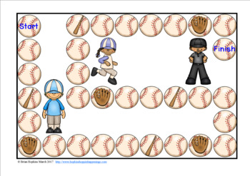 Baseball Sight Word Race