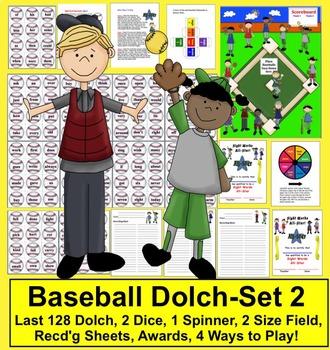 Baseball Sight Words Spring Literacy Center Activities - Set 2