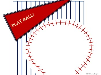 Baseball Signs (Red, White and Blue)