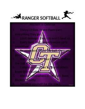 Coaching: Baseball/Softball Dugout Posters