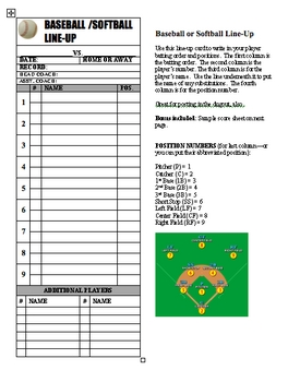 Soft image with regard to printable softball lineup cards