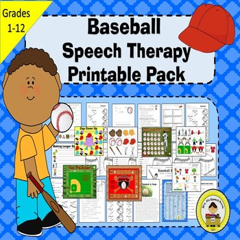 Baseball Speech Therapy Printable Pack
