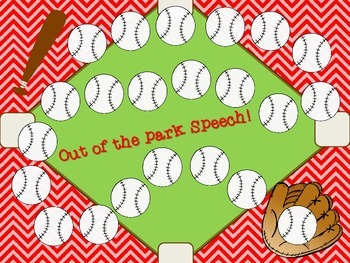 Baseball Speech and Language Bundle! Word associations, articulation, and more!