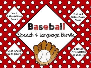 Baseball Speech and Language Bundle! Word associations, ar