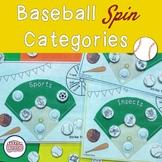 Baseball Spin Categories