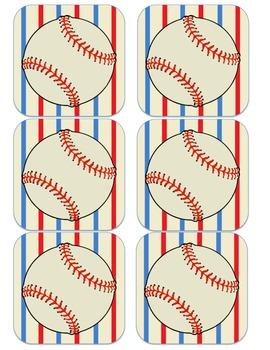 Baseball Sport Themed Alphabet Word Wall Posters