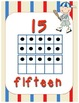 Baseball Sport Themed Number Posters