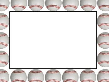 baseball sports borders and background graphics commercial use rh teacherspayteachers com Printable Baseball Clip Art Baseball Player Clip Art